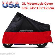 RED + Black XL Motorcycle Cover for Yamaha  VSTAR v-star XVS 650 1300 classic