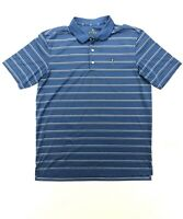 Bobby Jones Performance Men's Large Blue Stripe Golf Polo