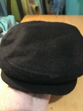 CHORUS BLACK MADE IN ITALY CABBIE HAT SIZE 58
