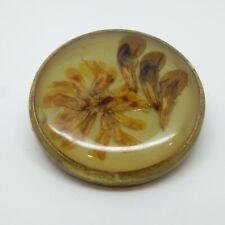 - Vintage Pin / Badge Resin / Lucite set Floral Brooch