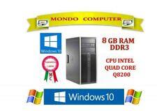 COMPUTER HP COMPAQ 8000 ELITE /INTEL QUAD CORE  Q8200 / 8 GB DDR3 / WINDOWS 10