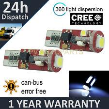 2X W5W T10 501 CANBUS ERROR FREE WHITE 5 SMD LED HILEVEL BRAKE BULBS HLBL104401