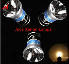 3pcs Xenon Bulb 6V 180lumen Lamp Reflector for Surefire 6P G2 P60 P61 Flashlight
