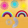 2pcs Sunshine and Rainbow Embossing DIY Scrapbooking Metal Cutting Dies Crafts
