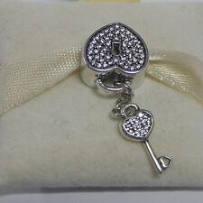 New Authentic Pandora Charm Lock of Love w/ Clear Cz 791429CZ Box Included