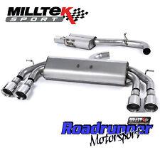 """MILLTEK GOLF R MK7.5 Scarico Cat Indietro 3"""" valvola di non risuonano POLACCO GT100 2017on"""