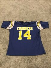 Vintage San Diego Chargers Dan Fouts Jersey Rawlings #14 Large LA Los Angeles