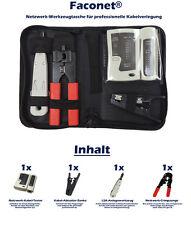 Faconet® Netzwerk Werkzeug-Set, Crimpzange, LSA Anlegewerkzeug, Kabeltester