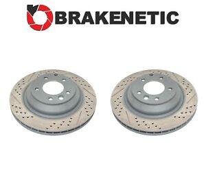 REAR SET BRAKENETIC PREMIUM Drilled Slotted Brake Rotors GTS Turbo BNP37044.DS
