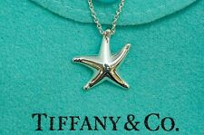 "Tiffany & co. 92.5% Silver STAR FISH Pendant with 15.75"" Necklace By ElsaPeretti"