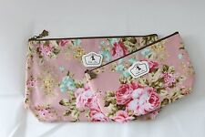 Set of 2 Bags toilette Fabric Plasticized solid (Flowers / Rose)