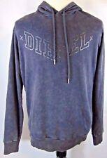 Diesel Men M Black Gray Distressed Hoodie MSRP 128$ NWT GOOD LOOKING!!!!