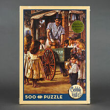 "NEW Cobble Hill 500 Pieces Jigsaw Puzzle Ice Cream Peddler By Jim Daily 18""x24"""