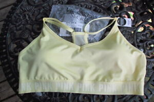 nwt Victoria's Secret  (pink) ultimate lightly lined sports bra xl pale yellow