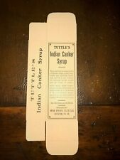 Tuttle's Indian Canker Syrup Dover New Hampshire NH Original Box Medicine Cure