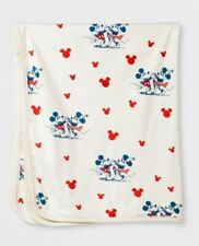 0c0ff1406e7 NEW WITH TAGS DISNEY X JUNK FOOD TARGET WHITE MICKEY MOUSE PRINT BABY  BLANKET