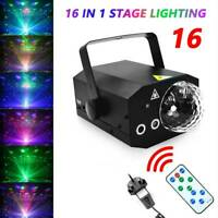 16 IN 1 Music Active Laser Stage Light LED RGB Party Disco Club DJ Lighting