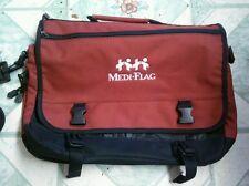 Red and black messenger bag w/ shoulder strap : Expandable, Polyester