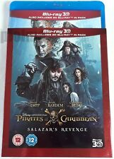 PIRATES OF THE CARIBBEAN: SALAZAR'S REVENGE New 3D + 2D Blu-Ray w/ SLIPCOVER