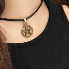 NEW Goth Emo Pagan Pentagram Necklace Witch Wiccan Jewelry Pagan UK Protection