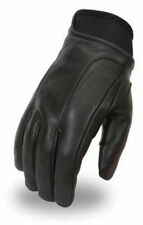 MEN'S LEATHER WATERPROOF MOTORCYCLE GLOVES SIZE MEDIUM