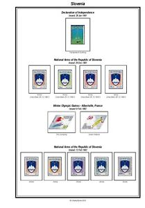 Print your own Slovenia Stamp Album, fully illustrated and annotated