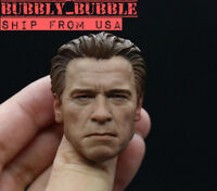 1/6 Arnold Schwarzenegger Head Sculpt OLD Terminator T800 For M34 Figure ☆USA☆