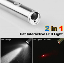 Mini Red Laser Pointer Pen with LED Flashlight 650nm Visible Lazer Torch Cat Toy