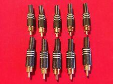 10 x Invotone RCA200M Stecker, Kabel RCA M lang, Farbe schwarz