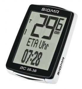 Sigma BC 16.16 Kabel Radtacho 01616 Fahrradtacho Fahrradcomputer ETA Timer Uhr