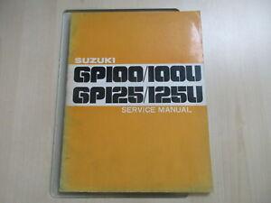 Suzuki GP 100 GP 125 Handbuch Wartungsanleitung Fahrerhandbuch Service Manual