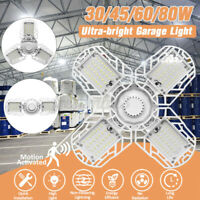 30/45/60/80W Deformable LED Garage Light Basement Light Motion Motion Activated