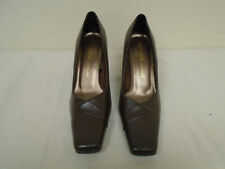 Fiore Ladies Brown Leather High Heeled Shoes Size UK 6 BNWOB