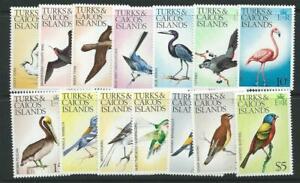 TURKS & CAICOS IS. SG451/64 1976-77 BIRDS MNH