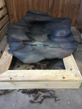 garden pond water feature Rockways rustic slate 1 piece water cascade