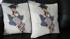 Suede Floral Square Decorative Cushions & Pillows