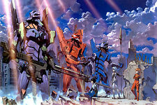 Neon Genesis Evangelion EVE   Anime  Room Wall Silk Cloth Poster 36x24 Print 45