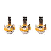 "10pcs/Set Mono 1/4"" 6.35mm ID Socket Jack Connector Panel Mount Guitar Plate hu"