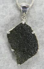 MOLDAVITE PENDANT $98 Tektite Sterling Silver Jewelry STARBORN CREATIONS MP98-S5