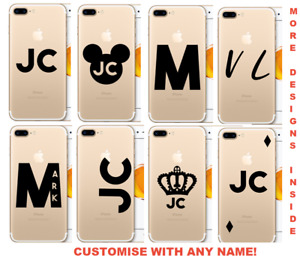 Personalised Name Initials Phone case for iPhone 7 8 X 11 12 Samsung S9 S10 S20