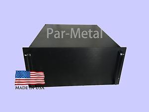 4U DIY Audio Instrument Amplifier Rackmount Chassis RF Case Box black 10-19177B
