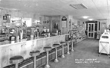 Derby Line Vt Kelley's Lunch Juke Box Interior Rppc Postcard