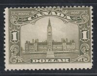 "Canada MINT OG Scott #159  $1.00 olive green Parliament Building ""Scroll""  F"