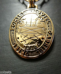 Secure the help of Good Spirits: Oriel,Pomiel,Gabriel. Bronze pendant (PeterSton