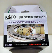 Kato 23049 N Gauge Unitrack Double Track Viaduct Incline Auxiliary Pier Set. New