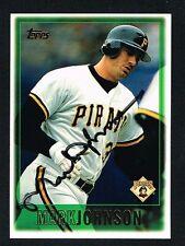 Mark Johnson #99 signed autograph auto 1997 Topps Baseball Trading Card
