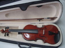 NEW 4/4  Electric Acoustic Violin with Bow and Hard Case Natural Gloss Finish
