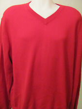 NEW 2XT 2XLT 2XL TALL TURNBURY 100% Merino Wool V-Neck Sweater Solid RED $70