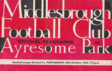 Football Programme>MIDDLESBROUGH v PORTSMOUTH Oct 1965