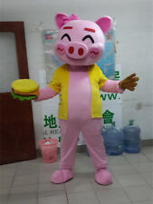 Halloween Pink Happy Pig Mascot Costumes  Animal Parade Outfits Dress Cosplay Pa